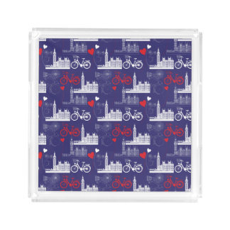 London Landmarks Pattern Acrylic Tray