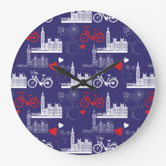 London Landmarks Pattern Clock