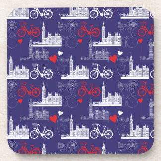 London Landmarks Pattern Coaster