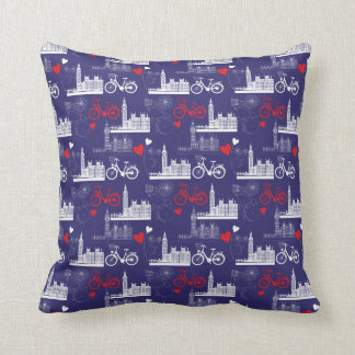 London Landmarks Pattern Cushion