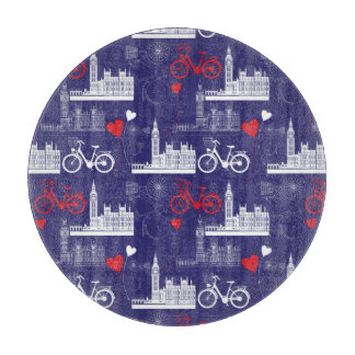 London Landmarks Pattern Cutting Board