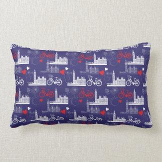 London Landmarks Pattern Lumbar Cushion