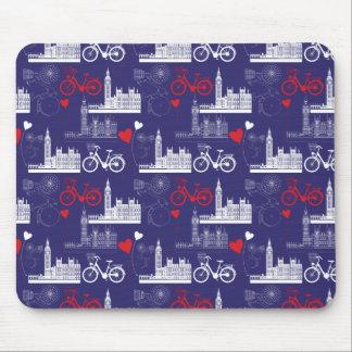 London Landmarks Pattern Mouse Pad