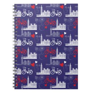 London Landmarks Pattern Notebook