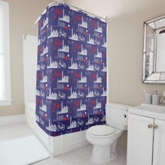 London Landmarks Pattern Shower Curtain