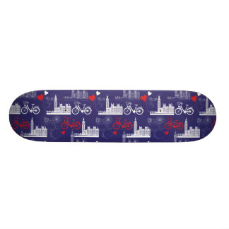 London Landmarks Pattern Skate Board Decks