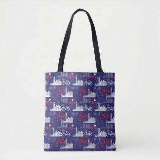 London Landmarks Pattern Tote Bag