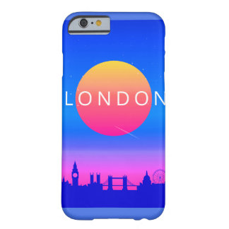 London Landmarks Travel Poster Barely There iPhone 6 Case