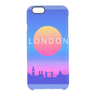 London Landmarks Travel Poster Clear iPhone 6/6S Case