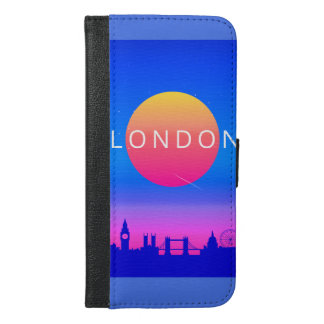 London Landmarks Travel Poster iPhone 6/6s Plus Wallet Case