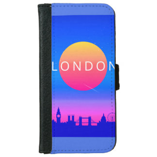 London Landmarks Travel Poster iPhone 6 Wallet Case