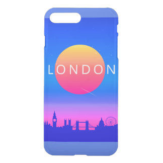 London Landmarks Travel Poster iPhone 8 Plus/7 Plus Case