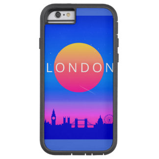 London Landmarks Travel Poster Tough Xtreme iPhone 6 Case