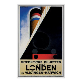 London / Londen - Vintage Ship Advertisement Poster