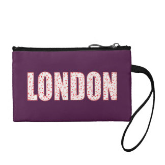 London (London Pride flower pattern, typography) Coin Purse