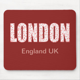 London (London Pride flower pattern, typography) Mouse Pad