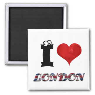 London Love England British Flag Funny Typography Magnet