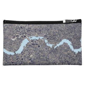 london map color thames makeup bag