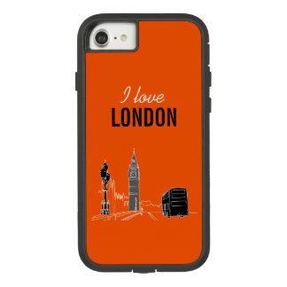London Modern Stylish Sketch Elegant Big Ben Cool Case-Mate Tough Extreme iPhone 8/7 Case