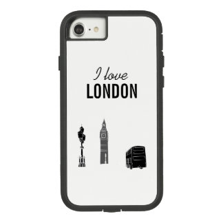 London Modern Stylish Sketch Elegant Big Ben Cool Case-Mate Tough Extreme iPhone 8/7 Case