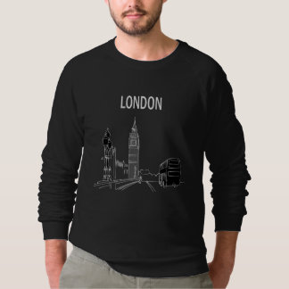 London Modern Stylish Sketch Elegant Big Ben Cool Sweatshirt