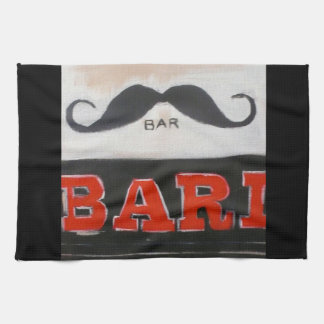 London Moustache Bar Tea Towel