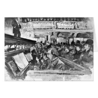 London Music Hall Orchestra Pit 1890 Greeting Card