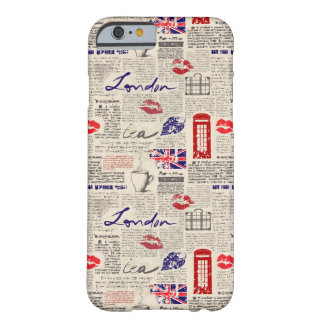 London Newspaper Pattern Barely There iPhone 6 Case