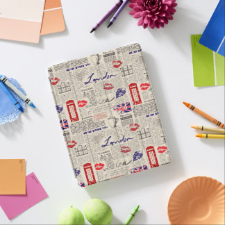 London Newspaper Pattern iPad Cover