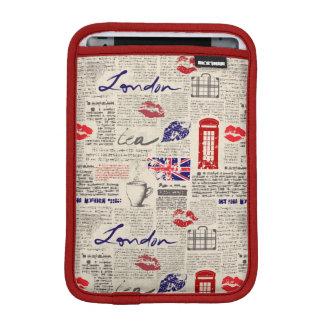 London Newspaper Pattern iPad Mini Sleeve