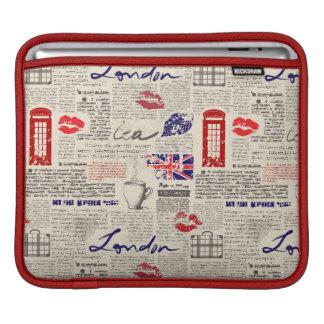 London Newspaper Pattern iPad Sleeve