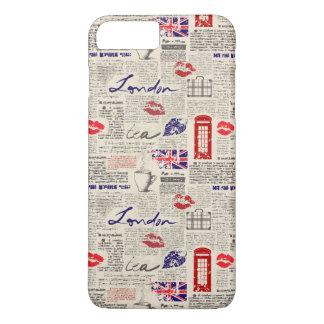 London Newspaper Pattern iPhone 7 Plus Case