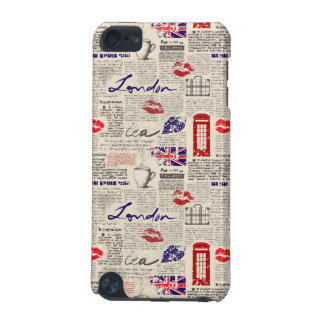 London Newspaper Pattern iPod Touch (5th Generation) Cover