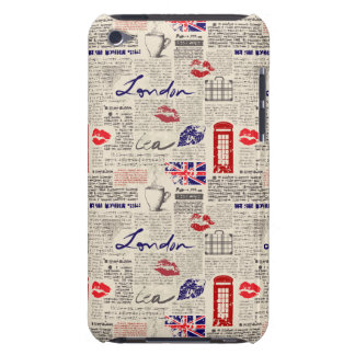 London Newspaper Pattern iPod Touch Cover