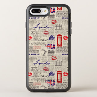 London Newspaper Pattern OtterBox Symmetry iPhone 8 Plus/7 Plus Case