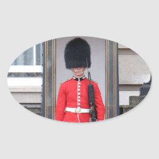 London Palace Guard Oval Stickers
