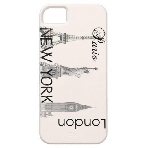 London, Paris, New York iPhone 5 Covers