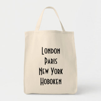 London Paris New York Hoboken Tote Bag