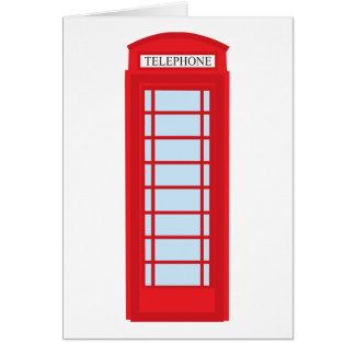 London phone booth card