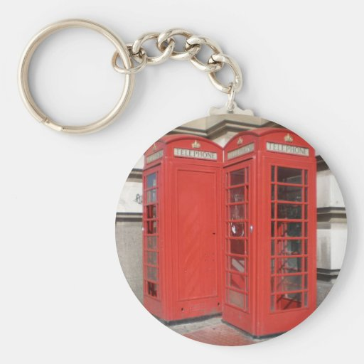 London Phone Booth Products Keychain