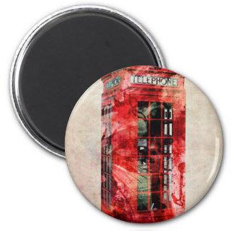 London Phone Box 6 Cm Round Magnet
