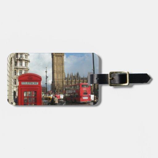 London Phone box & Big Ben (St.K) Bag Tag