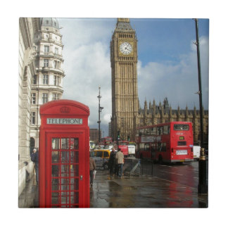London Phone box & Big Ben (St.K) Tile
