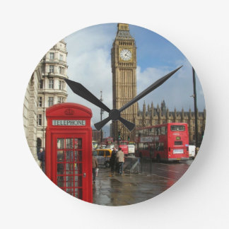 London Phone box & Big Ben (St.K) Wall Clock
