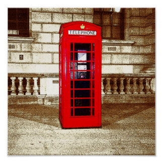 London Phone Box (poster edge effect)