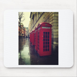 London phone boxes mouse pad