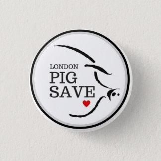 LONDON PIG SAVE LOGO BUTTON