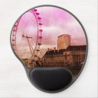 london,pink effect gel mouse pad