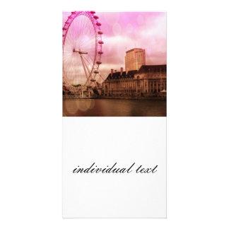 london,pink effekt.jpg photo greeting card