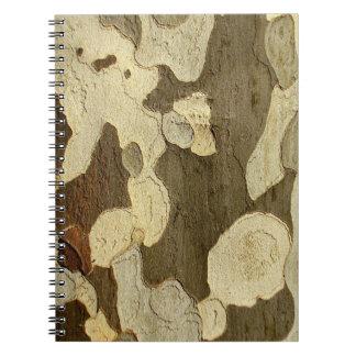 London Plane Tree Bark Photo Notebook